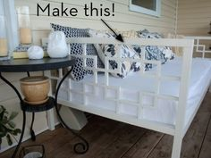 Make a West Elm Inspired Daybed. Thank you Ana White! for the sunroom? cozy place to curl up for a nap or read a book