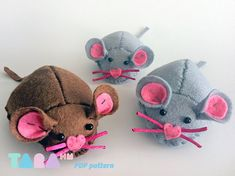 DIY Patrón Ratón de Fieltro. Mouse Felt/Sewing Pattern