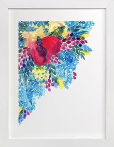Flowers Everywhere by Alexandra Dzh at minted.com