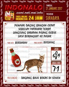 Nomer Hoki 6D Togel Wap Online Live Draw 4D Indonalo Surabaya 21 Januari 2017