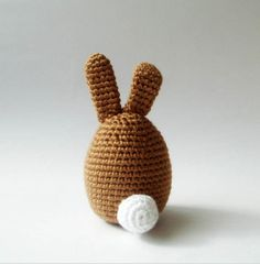 handmade amigurumi little fat rabbit. *crocheted by acrylic yarn *stuffed with fiberfill *has 6mm safety eyes.  cute easter decoration for your table,room,shelf,home.. lovely gift for any...
