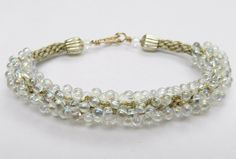 Kumihimo Round Braid Silver Drop Bead Bracelet Instructions