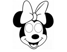 minnie mouse mask printable