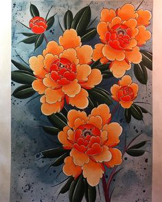 Finished up this painting today. Japanese Peony Tattoo, Japanese Flowers, Japanese Painting, Japanese Art, Nature Tattoos, Body Art Tattoos, Japan Flower, Peony Colors, Peony Painting