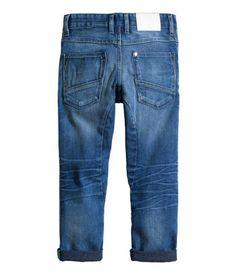 Tapered Worn Jeans | Denimblå | REA | H&M SE
