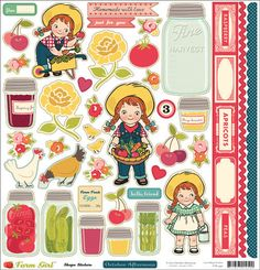 October Afternoon Farm Girl 12x12 Shape by MollysScrapbooks, $2.70