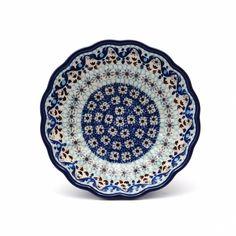 Blue Dot Pottery - Polish Pottery & Stoneware - Frilled Bowl (medium) -