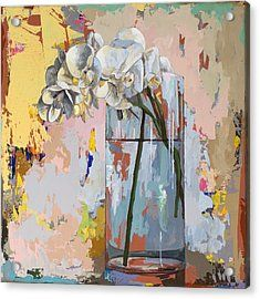 Flowers #3 Acrylic Print by David Palmer