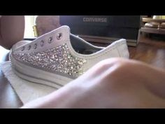 DIY: How to apply Bling Crystals to your Converse Bedazzled Converse Diy, Rhinestone Converse, Bedazzled Shoes, Bling Converse, Prom Shoes, Converse Shoes, Rhinestone Bra, Bling Baby Shoes, Baby Girl Shoes