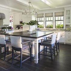 Round Flatline Chandelier, Asian, kitchen, Martha O'Hara Interiors