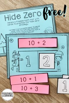 Do you use Eureka Math? This Hide Zero math mat provides extra practice for our first graders. Download this free set! #mathgames #eurekamath #placevalue