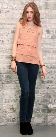 Gentle Fawn, Pink Polda dot blouse. <3