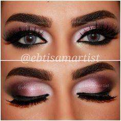 Pink Purple Smokey Eye.