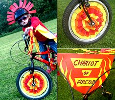 I love this fun theme for decorating your bike :) Scout Activities, Activities For Kids, Bike Decorations, Bike Parade, 4th Of July Parade, Easter Parade, Kids Party Themes, Bicycle Art, Kids Bike