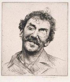 "Mortimer Menpes (British, 1855-1938), ""James McNeill Whistler,"" ca. 1885."
