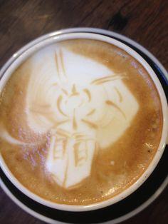 TARDIS coffee art :D