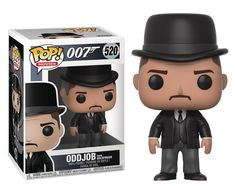Funko action figure Oddjob from the James Bond Movie Goldfinger. Pop Figures, Vinyl Figures, Action Figures, Metropolis Comic, Funko Pop, Perfect Grade, James Bond Movies, Bobble Head, Custom Items