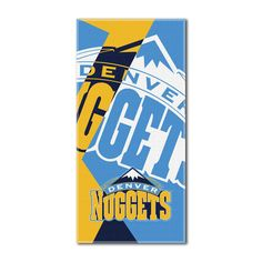 """Nuggets National Basketball League, """"""""Puzzle"""""""" 34""""""""x 72"""""""" Over-sized Beach Towel"""