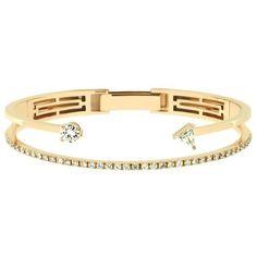 delfina delettrez Marry Me Bracelet ($16,890) ❤ liked on Polyvore featuring jewelry, bracelets, lip jewellery, lip jewelry, bee jewelry, delfina delettrez and honey bee jewelry
