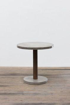 Round Concrete Bar Table With Rustic Pedestal & Concrete Base