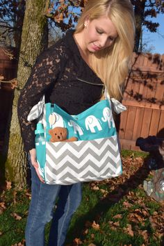 Brownie Gifts Aqua Elephant Diaper Bag and Clutch featured on Zulily by BrownieGifts on Etsy https://www.etsy.com/listing/195407595/brownie-gifts-aqua-elephant-diaper-bag