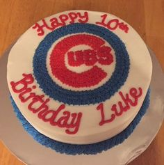 Chicago Cubs Theme Birthday Cake Shannon Miller Party Ideas