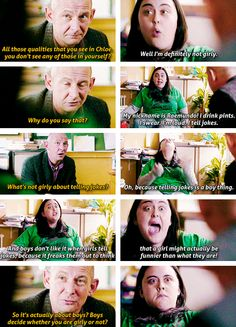 """""""I find you intensely irritating some days."""" Rae & Kester. My Mad Fat Diary"""