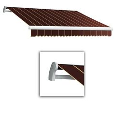 AWNTECH 20 ft. LX-Maui Manual Retractable Acrylic Awning (120 in. Projection) in