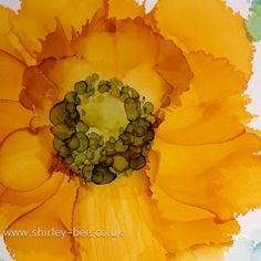 a sprinkle of imagination: Black Poppy with Alcohol Inks Alcohol Ink Tiles, Alcohol Ink Crafts, Alcohol Ink Painting, Watercolor Flowers, Watercolor Paintings, Watercolour, Outdoor Art, Mellow Yellow, Poppies