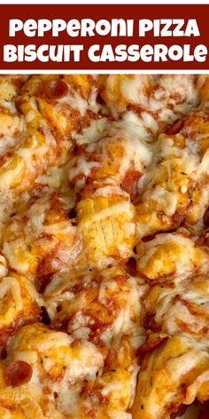 Pizza Casserole made with fluffy biscuits, pizza sauce, mini pepperoni, seasonings, and cheese! So easy to make and ready for dinner in just 30 minutes. Easy Casserole Recipes, Casserole Dishes, Easy Dinner Recipes, Easy Meals, Easy Dinner Casserole, Skillet Recipes, Pepperoni Recipes, Pizza Recipes, Cooking Recipes