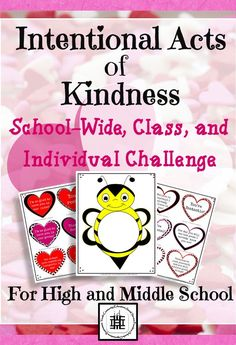This individual, class, and school-wide acts of kindness challenge is a fantastic way to get your middle or high school students excited to demonstrate random and intentional acts of kindness!