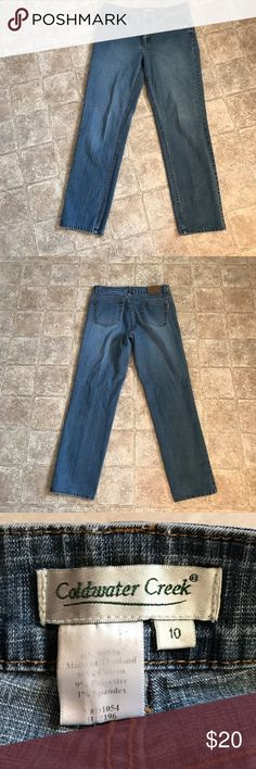 "Coldwater creek jeans Inseam is 30"" in excellent condition no flaws these are straight leg Coldwater Creek Jeans Straight Leg"