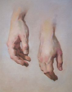 Hands study in oil, by Jeff Haines