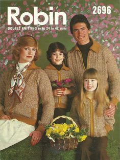 Vintage 2696 Robin Family/Ladies/Mens/Childrens Jacket - Knitting Pattern in Crafts, Knitting, Patterns | eBay