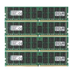 Kingston Technology 64GB RAM Kit (4x16GB) 2133MHz DDR4 ECC Reg CL15 DIMM DR x 4 with TS Server Memory (KVR21R15D4K4/64)