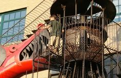 City Museum - Monstrocity - the dragon slide entrance