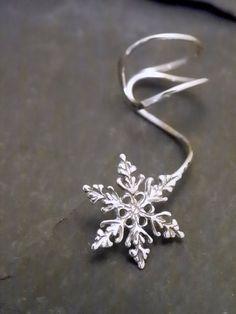 snowflake ear cuff