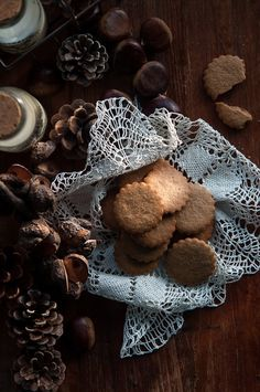 Chestnut cookies with maple glaze | Gourmantine @Gintare | Gourmantine