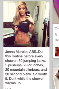 Get in shape and get Jenna marbles abs!