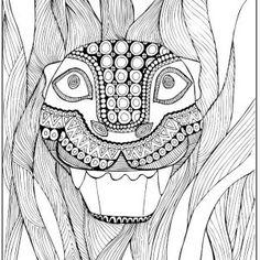cynthia-cabello-coloring-pages-alebrije-jaguar