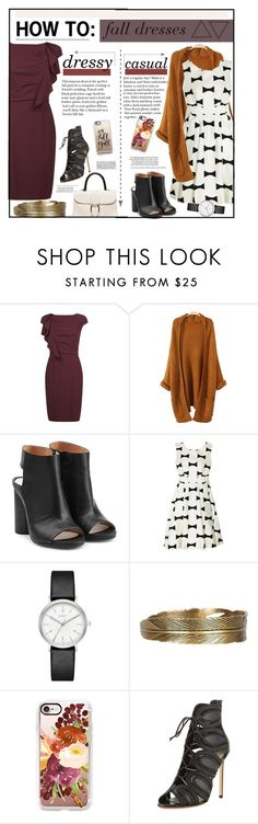 """""""How To: Fall Dresses"""" by sierrrrrra on Polyvore featuring MaxMara, Maison Margiela, Kate Spade, DKNY, AllSaints, Casetify and Francesco Russo"""