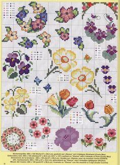 Bloemen, hierachter nog veel meer patronen met bloemen.