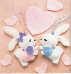 DIY Cute Felt Bunny - FREE Pattern / Template