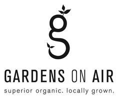 gardens on air - graham yelton creative  www.grahamyelton.com  Logo, hydroponics, g, organic, local, farm, greenhouse, alabama