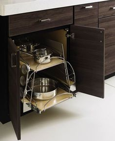 Weston Kitchen: #Kitchen #Cookware #Pullout #Drawer #Cabinet #Organize #Home