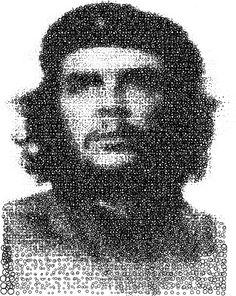 Inkscape Vector Art Portrait: I used ordinary circles to create this version of the portrait. Ernesto Che Guevara, Stippling, Jon Snow, Vector Art, Portrait, Cuba, Hands, Photos, Art