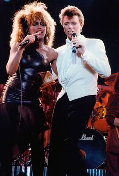David Bowie and Tina Turner performing Tonight.(written by Bowie+Iggy)