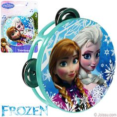 DISNEY'S FROZEN TOY TAMBORINES. With a beautiful picture of Elsa and Anna on the front, these will delight any Disney Frozen fan. Each blister carded. Perfect for playdates and party favors.  Size 4 X 4 Inches
