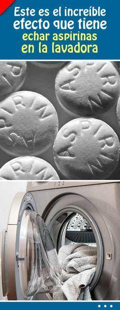 Este es el increíble efecto que tiene echar aspirinas en la lavadora cuando pones tu ropa #ropa #lavadora #lavar #aspirina #blanquear