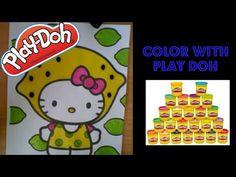 Play Doh Coloring Book: Hello Kitty lemon Head - YouTube